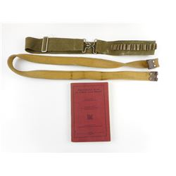 WWI BOOK: THE GREAT WAR IN VERSE & PROSE & CANVAS MILITARY BELTS