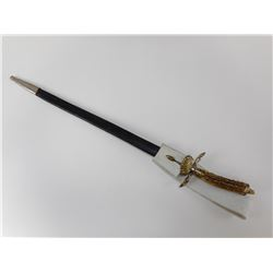 EARLY GERMAN HUNTING SWORD WITH SCABBARD