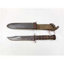 U.S.N. MKII WWII COMBAT KNIFE WITH SHEATH