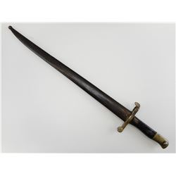PORTUGUESE M1885 YATAGHAN BAYONET WITH SCABBARD