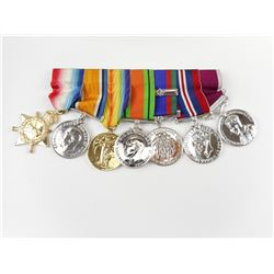 WWI & II CANADIAN VETERAN OFFICIALLY IMPRESSED MEDAL SET