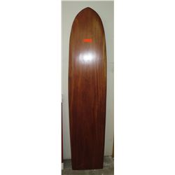 "Decorative Wooden Surfboard, Approx. 75"" L, 16"" W"