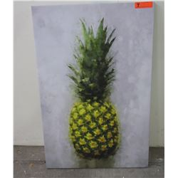 """Pineapple on Stretched Canvas 24"""" x 36"""""""