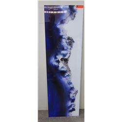 """Tall Blue Photographic Image Transfer on Acrylic, Frame 18"""" x 60"""""""