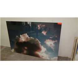 "Large Photographic Image Transfer on Acrylic, Clouds 40"" x 60"""