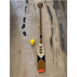 """Painted Wooden Oar, 47.5"""" L, 45"""" W"""