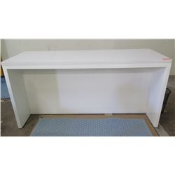 """White Lacquer Tall Table (or Bar) w/ 3 Drawers by Lacquer Craft 74"""" x 26"""", 36.5"""" H"""