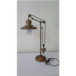 Pulley Metal Desk Lamp