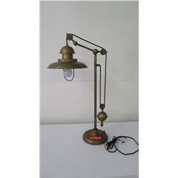 """Pulley Metal Desk Lamp, Approx. 32"""" H"""