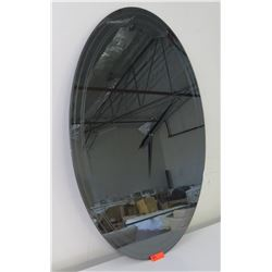 """Oval Frameless Mirror by Catallan Italia (made in Italy) 47"""" x 35"""""""