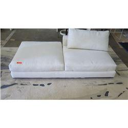 "White Minotti Sofa Lounger w/ Cushion, Woven Textural Upholstery 41"" x 40"""
