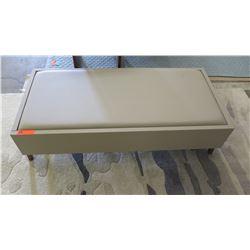 "Upholstered Bench w/ Drawer by Berman Falk 48"" L x 22.5"" W, 14"" H"