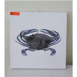 "Crab Art, Stretched Canvas 20"" x 20"""