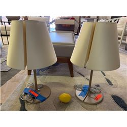 "Pair of Artemide Melampo Lamps w/ Metal Base by Gardere 23"" H"