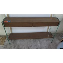 """2-Drawer Console Table w/Glass Sides (by Berman Falk) 61"""" x 14"""", 34"""" H"""