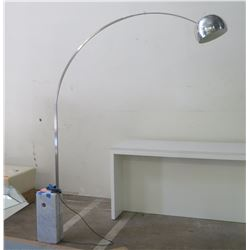 "Flos Arc Floor Lamp w/ Marble Base, Made in Italy, Approx. 8"" Tall"