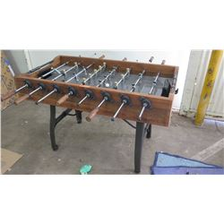 """Wooden Foosball Table 52"""" x 57"""", 36"""" H"""