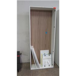 """Tall Cabinet 35"""" W, 13"""" D, 86.5"""" H (may not be complete; no door?)"""