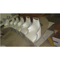 """Qty 6 Leather Dining Chairs 24"""" x 18"""" x 38""""H"""
