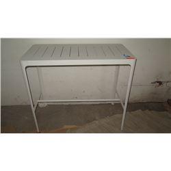 """Modern White Table 23.75"""" x 47.5"""" x 41"""" H"""