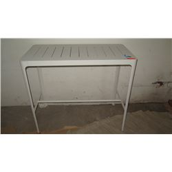 "Modern White Bar-Height Table 23.75"" x 47.5"" x 41"" H"