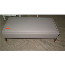 """Upholstered Leather Bench w/ Drawer by Lacquer Craft 23"""" x 48"""", 15"""" H"""