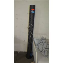 "Tall Black Cylinder Floor Lamp 11"" Dia, 74"" H"
