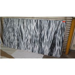 Black & White Abstract Painitng on Stretched Canvas 4' Wide