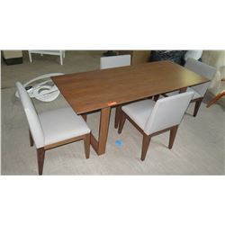 Wooden Rectangular DiningTable (30x72x30H) w/ 4 Matching Chairs 19x18x32H)
