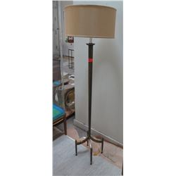 """Tall Candlestick Floor Lamp w/ Drum Shade (approx. 62.5""""H, shade 18"""" dia)"""