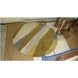 Round Multi-Tone Wool Area Rug by Surya (4' Dia.)