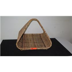 "Woven Rattan Log Basket 22"", 22"" D, 18"" Tall"