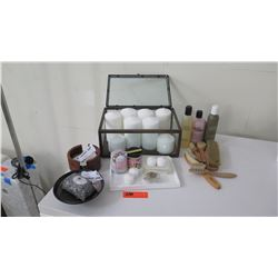 Misc. Staging Products: Toiletries, Grooming Brushes, Candles, Soap