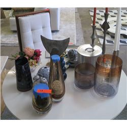 Misc. Glass Cylnder and Ceramic Vases, Misc. Décor Accessories