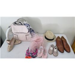 Staging Materials: Handbag, Hat, Shoes (4 pairs)