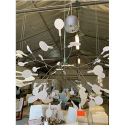 "Contemporary Branched Ceiling Lamp, Approx. 21"" H"