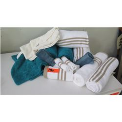 Staging Materials: Misc. Bath & Hand Towels, Bath Mat, etc. (some with tags)