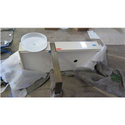 Toto Wall Mount Vanity and White Frosted Glass Sink