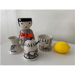 Netsuke Style Teapot, Teacups