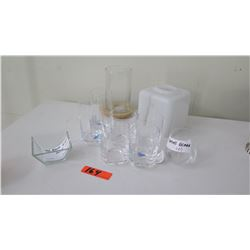 Glass Bowl, Misc. Drinking Glasses, Cannister