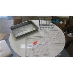 Baking Pan, 2 Baking/Cooling Racks, Wire Basket