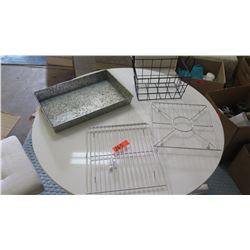 Baking Pan, 2 Baking/Cooling Racks, Wire Basket