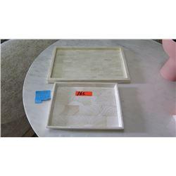 """Qty 2 Decorative Inlaid Trays (18""""x12"""" & 13""""x10"""")"""