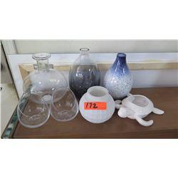 Turtle Bowl, Misc. Glass Vases, Glassware