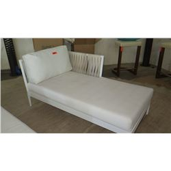 """Artie Chais Lounge with Cushions, Left Arm (frame 60"""" L, 33"""" W, 19"""" H)"""