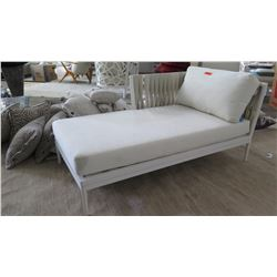 """Artie Chais Lounge with Cushions, Right Arm (frame 60"""" L, 33"""" W, 19"""" H)"""