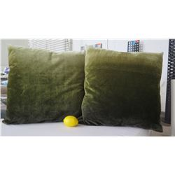 Qty 2 Dark Green Ombre Decorative Accent Pillows