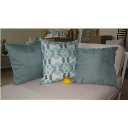 Qty 3 Gray & White Decorative Accent Pillows