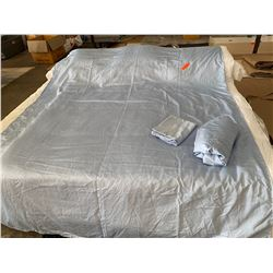 Lt. Blue Twin Sheet Set (Fitted, Flat, 1 Pillow Case) 100% Pima Cotton, Used only for staging