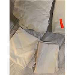 White King Sheet Set (Flat Sheet, Fitted Sheet, 2 Pillowcases). Was used only for staging